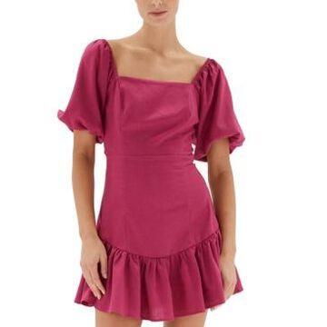 Minkpink Freshwater Ruffled Tie-Back Dress