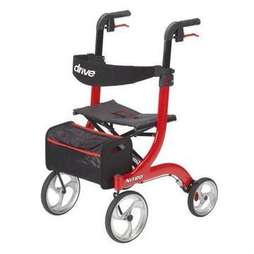 Drive Medical Nitro Euro Style Rollators Standard Red - 1 Each