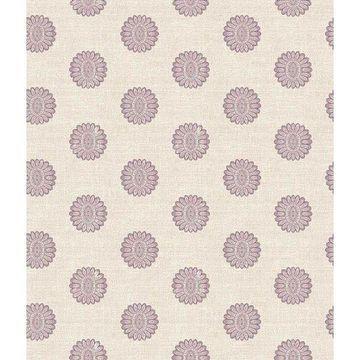 Brewster 2657-22236 Lise Purple Medallion Wallpaper