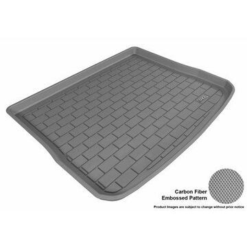 3D MAXpider 2009-2016 VW Tiguan All Weather Cargo Liner in Gray with Carbon Fiber Look