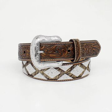 Nocona N2509408-44 Pro Diamind Concho Hair Belt, Tan - Size 44