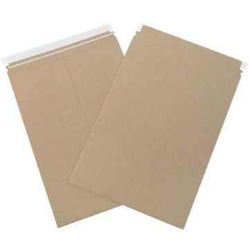 ''Box Partners Utility Flat Mailers 14 1/4'''' x 19'''' Kraft 200/Case RMU1419K''