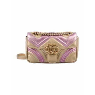 GG Marmont Matelasse Mini Bag Gold