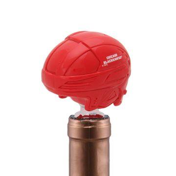 Chicago Blackhawks Helmet Bottle Stopper
