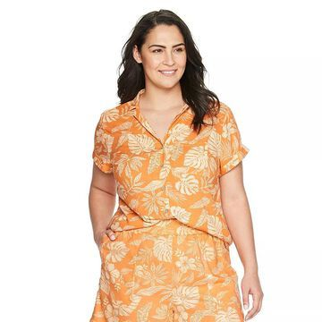 Plus Size Sonoma Goods For Life Easy Pull-On Shorts, Women's, Size: 1XL, Med Orange