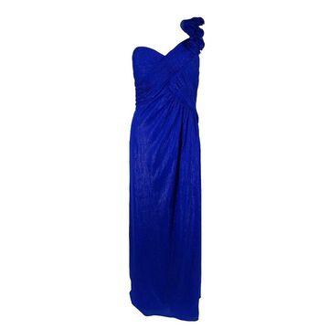 Aidan by Aidan Mattox Women's Long Chiffon Dress - Sapphire - 12