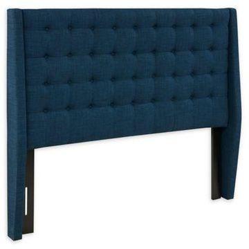 INK+IVY Newport Queen Upholstered Headboard in Blue