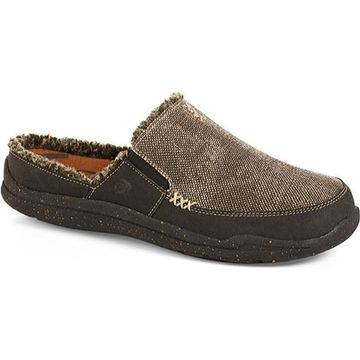 Acorn Men's Wearabout Slide With Firmcore Stonewash Black Canvas