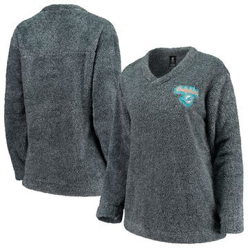 Miami Dolphins Concepts Sport Women's Trifecta Pullover Sweatshirt Charcoal