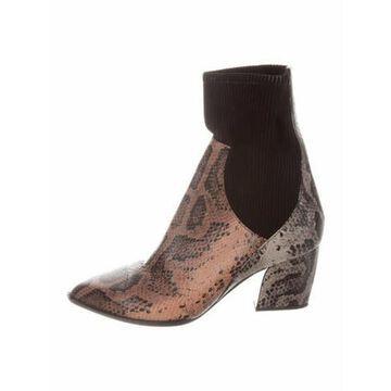 Leather Animal Print Sock Boots