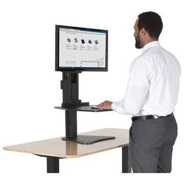 Victor High Rise Sit-Stand Desk Converter - 0 to 15.5