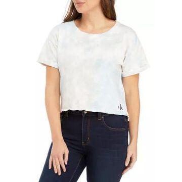 Calvin Klein Jeans Women's Drop Shoulder Tie Dye T-Shirt - -