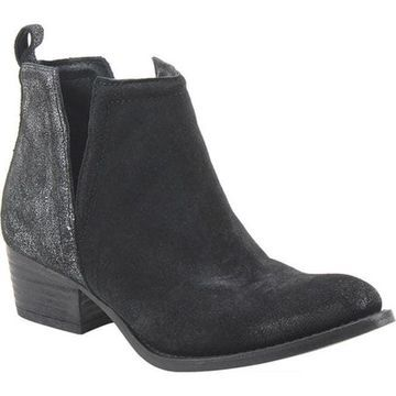 Diba True Women's Stop By Ankle Boot Black/Pewter Suede/Leather