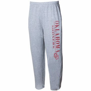 Oklahoma Sooners Concepts Sport Tri-Blend Mainstream Terry Pants Gray