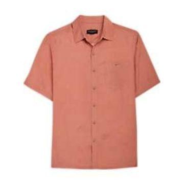 Pronto Uomo Coral Floral Geometric Camp Shirt