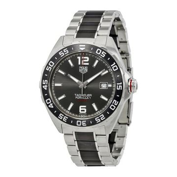Tag Heuer Men's WAZ2011.BA0843 'Formula One' Automatic Two-Tone Stainless steel and Ceamic Watch (Black - 9 Inch - 20mm Strap - Three Hand/Water
