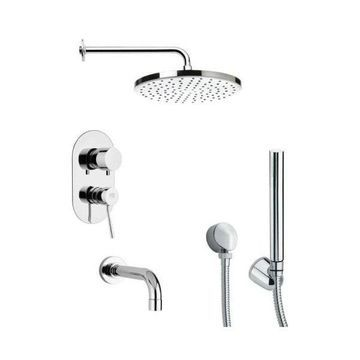 Nameeks TSH4046 Remer Double Handle Shower System Faucet, Chrome