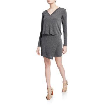 Lloyd V-Neck Long-Sleeve Short Dress