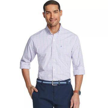 Men's IZOD Advantage Regular-Fit Performance Button-Down Shirt, Size: Large, Purple