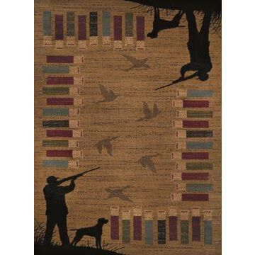 United Weavers Affinity Bird Shot Tufted 5' x 8' Area Rug in Gold