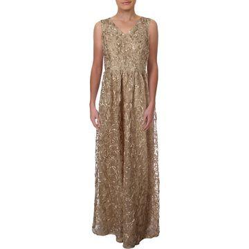 Ellen Tracy Womens Formal Soutache Evening Dress