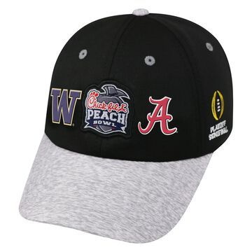 Alabama Crimson Tide vs. Washington Huskies Top of the World College Football Playoff 2016 Peach Bowl Dueling Adjustable Hat - Black/Heathered Gray