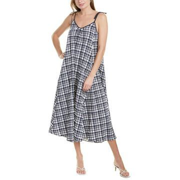 Solid & Striped Puckered Maxi Dress