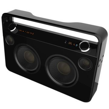 Supersonic Speaker System - 50 W RMS - Wireless Speaker(s) - Portable - Battery Rechargeable - Black
