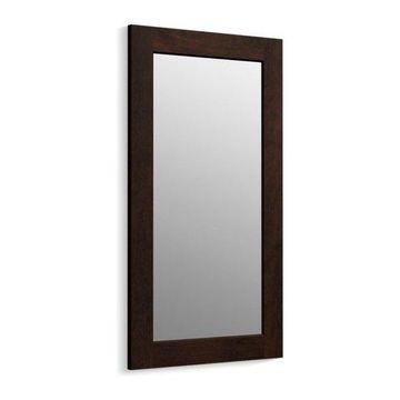 Kohler Poplin/Marabou Framed Mirror, Claret Suede