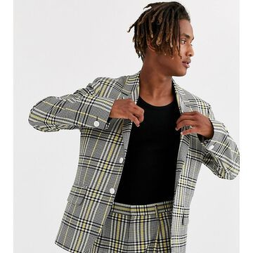 Noak suit jacket in yellow check