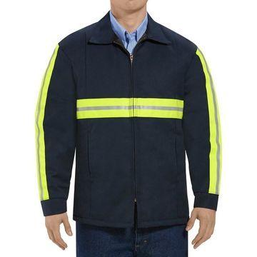 Men's Red Kap Enhanced Visibility Quilt-Lined Panel Jacket