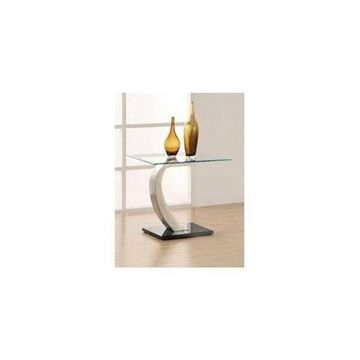Glass Top End Table by Coaster