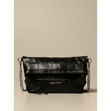Marc Ellis Crossbody Bags Dalila M Marc Ellis Bag In Laminated Crocodile Print Leather