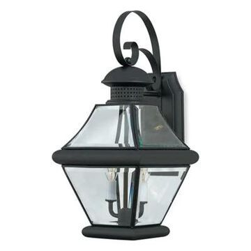 Quoizel Rutledge 2-Light Outdoor Wall-Mount Lantern in Mystic Black