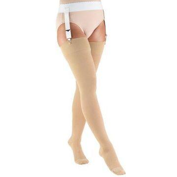 Truform Stockings, Thigh High, Closed Toe: 20-30 mmHg, Beige, X-Large