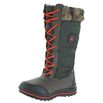 Cougar Women's Chateau Faux Fur Trim Waterproof Winter Snow Boots