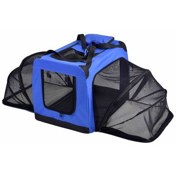 Pet Life 'Hounda Accordion' Metal Framed Soft-Folding Collapsible Dual-Sided Expandable Pet Dog Crate