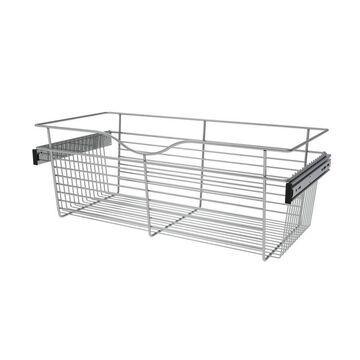 Rev-A-Shelf Closet Accessories 30-in x 11-in x 14-in Chrome Basket