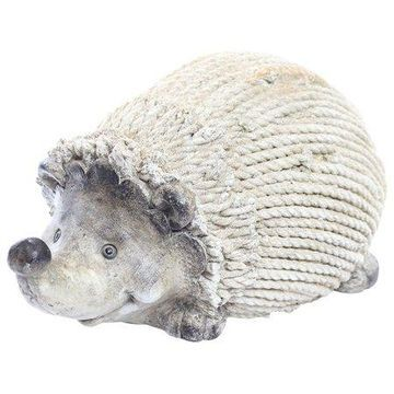 Alpine Hedgehog Statue with Rope Wrapped Design, 10 Inch Tall