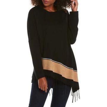 Rafaella Women's Asymmetric Fringe Hem Sweater -