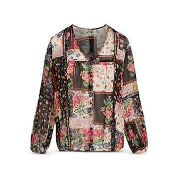 Johnny Was Roswell Patchwork Print Top