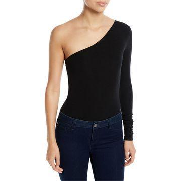 Ribbed One-Shoulder Bodysuit