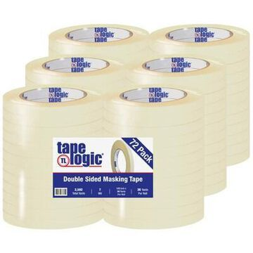 Tape Logic Double Sided Masking Tape, 7 Mil, 1/2 x 36 yds, Tan, 72/Case (T953100) | Quill