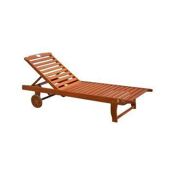 Vifah Single Hardwood Chaise Lounge