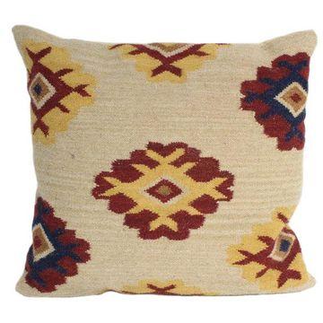 Bashian Seeger Beige Pillow, 2'x2'