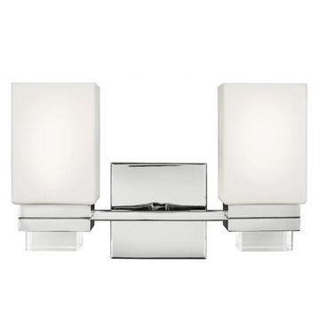 Feiss Maddison 2-Light Bathroom Vanity Light in Polished Nickel