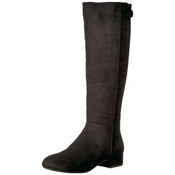 Call It Spring Women's Abert Western Boot, Black Nubuck, 7 B US