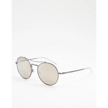 Emporio Armani round lens sunglasses-Silver