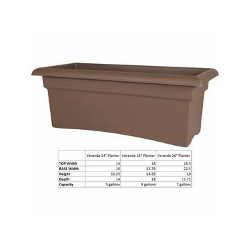Bloem Veranda Deck Box Planter - 26