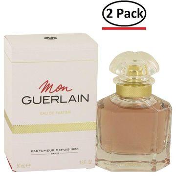 Mon Guerlain by Guerlain Eau De Parfum Spray 1.6 oz for Women (Package of 2)